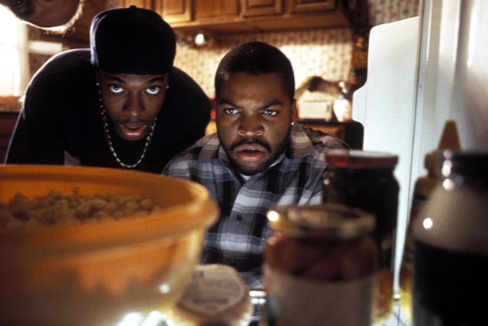 """Chris Tucker, left, and Ice Cube in a scene from """"Friday."""""""