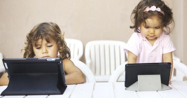 A new survey reveals children as young as 6 months are using electronic devices. Photo: Getty