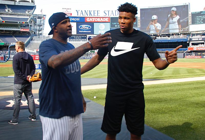 One of the most transcendent athletes in the world looked anything but while taking swings with the Yankees. (Getty)