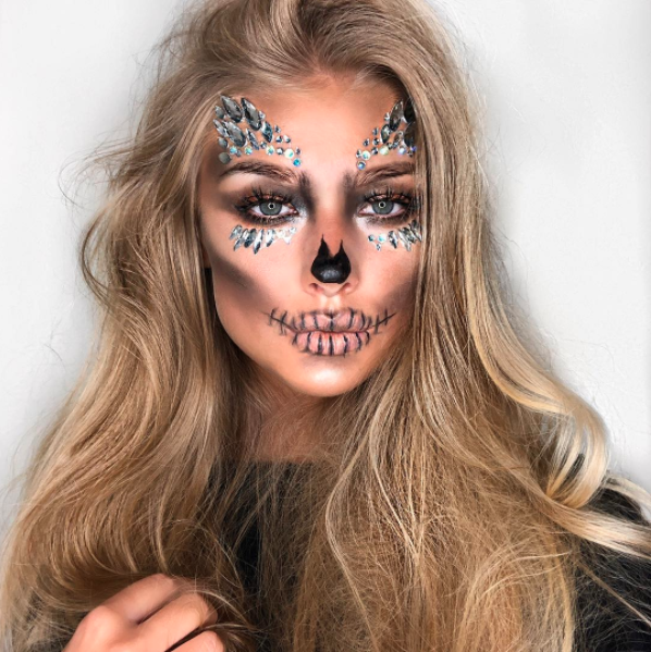 Mix spooky with sassy by adding loads of glittery crystals. Photo: Instagram
