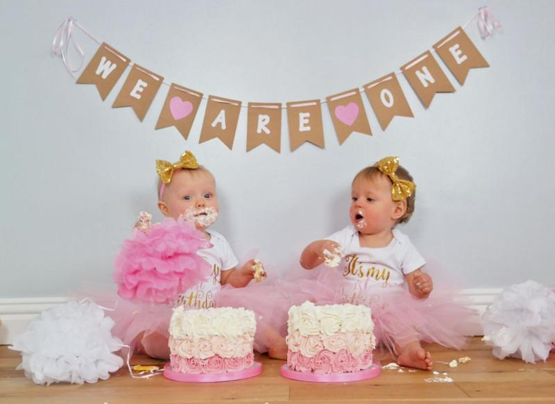The twins loved their birthday surprise. Photo: Mega