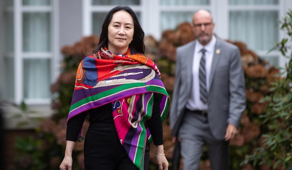 Meng Wanzhou, chief financial officer of Huawei Technologies, leaves her home to attend court on Thursday. Photo: Bloomberg