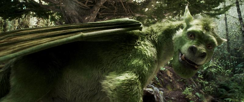 """Elliot is a computer-generated dragon who's furry rather than scaly in the remake of """"Pete's Dragon."""""""