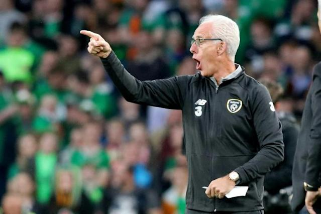 Republic of Ireland manager Mick McCarthy had to settle for a goalless draw against Georgia (AFP Photo/Paul Faith)