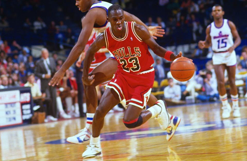 Sports-starved fans were happy to tune into to Michael Jordan on Sunday. (Focus on Sport/Getty Images)