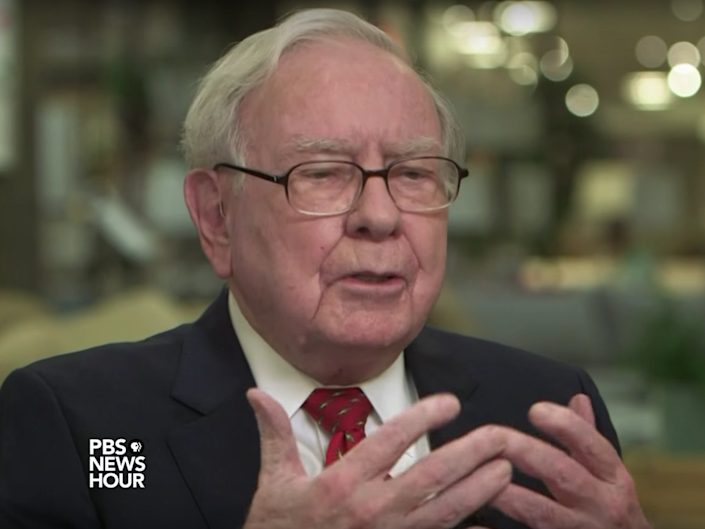 'We have a lot of businesses... I don't think any of them are non-competitive in the world because of the corporate tax rate,' Mr Buffett said: YouTube/PBS Newshour