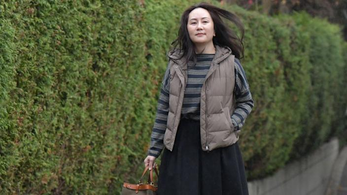 Huawei Chief Financial Officer, Meng Wanzhou, leaves her Vancouver home to attend British Columbia Supreme Court