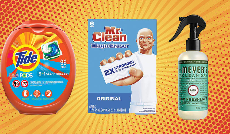 Save big on Tide, Mrs. Meyers, Mr. Clean and more. (Photo: Amazon)