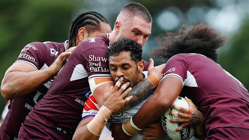 Melbourne have beaten Manly 18-4 in a tough NRL season-opener for both sides at Brookvale