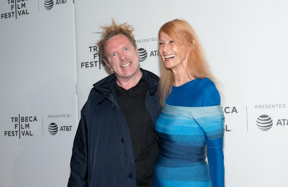 "NEW YORK, NY - APRIL 21:  (L-R) John Lydon and Nora Forster attend ""The Public Image is Rotten"" Premiere during 2017 Tribeca Film Festival at Spring Studios on April 21, 2017 in New York City.  (Photo by Noam Galai/Getty Images for Tribeca Film Festival)"