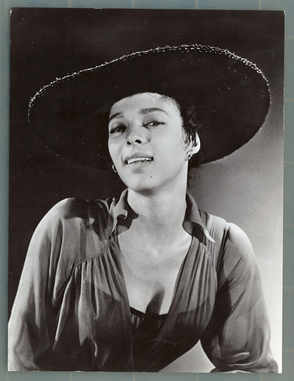 """Dandridge dressed in character as Bess from the 1959 film """"Porgy and Bess."""""""