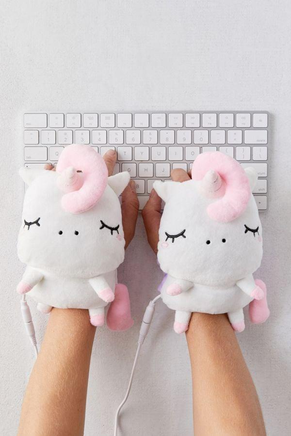 <p>Keep your hands warm while typing with these fun <span>Smoko Unicorn USB Handwarmers</span> ($30).</p>
