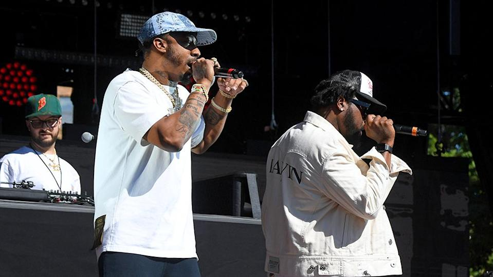 PHILADELPHIA, PENNSYLVANIA – SEPTEMBER 04: Benny the Butcher (L) and Conway the Machine of Griselda perform during 2021 Made In America at Benjamin Franklin Parkway on September 04, 2021 in Philadelphia, Pennsylvania. (Photo by Kevin Mazur/Getty Images for Roc Nation) - Credit: Getty Images for Roc Nation