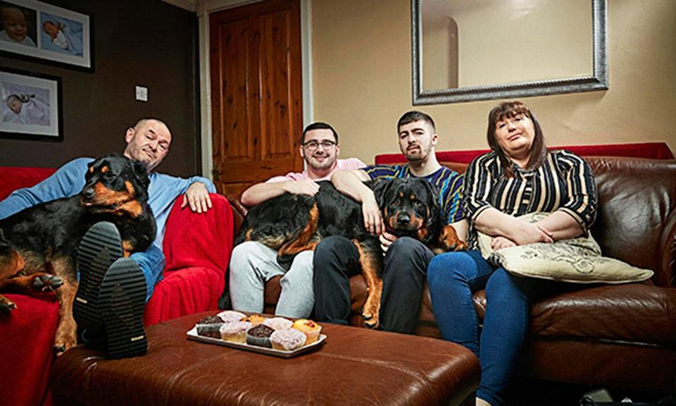 The Malone (L-R) Tom senior, Shaun, Tom and mum Julie. (Photo: Channel 4)