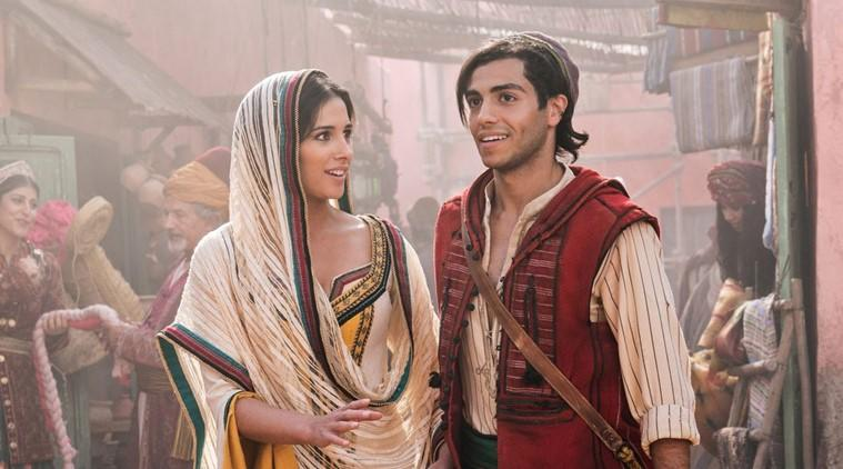 Naomi Scott and Mena Massoud aladdin box office
