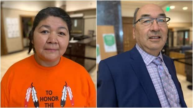 Anastasia Qupee and James Igloliorte have been named commissioners for the Inquiry into the Treatment, Experiences and Outcomes of Innu in the Child Protection System. (Mark Quinn/CBC - image credit)
