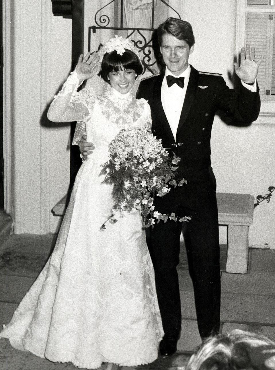 <p>After Princess Diana's wedding, everyone began channeling their inner royal. Extra lace accents, longer veils, and bigger bouquets abounded. Figure skater Dorothy Hamill married Dean Paul Martin in 1982, complete with—you guessed it—a big bouquet and lace details.</p>