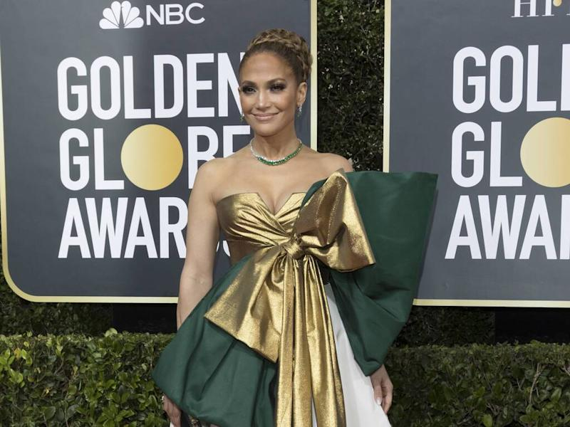 Jennifer Lopez dazzles in custom ballgown at 2020 Golden Globes