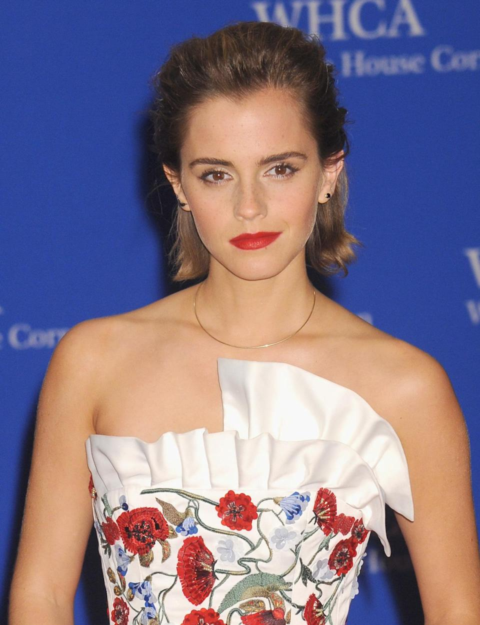 <p>Actress Emma Watson attends the 102nd White House Correspondents' Dinner, April 30.<i> (Photo: Kris Connor/FilmMagic)</i></p>