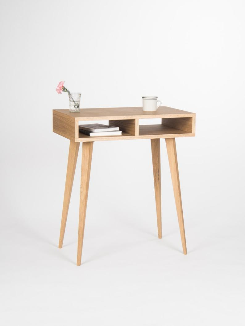 "<br><br><strong>MoWdwrk</strong> Small Oak Wood Desk, $, available at <a href=""https://go.skimresources.com/?id=30283X879131&url=https%3A%2F%2Fwww.etsy.com%2Flisting%2F400600673%2Fentryway-table-hallway-table-small-desk"" rel=""nofollow noopener"" target=""_blank"" data-ylk=""slk:Etsy"" class=""link rapid-noclick-resp"">Etsy</a>"