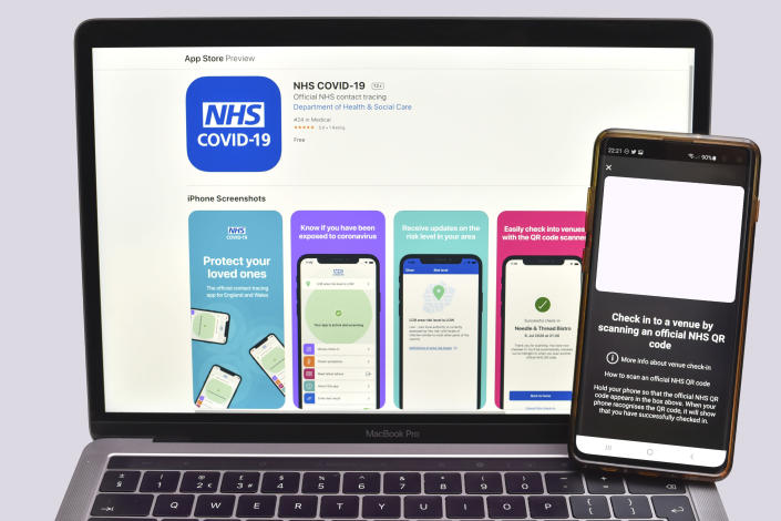 People have been urged to download the NHS COVID-19 app to help track the spread of coronavirus. (PA)