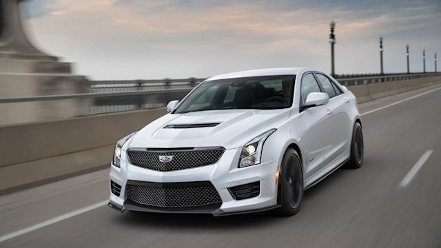 "<p>The <a href=""https://www.motor1.com/cadillac/ats/"" rel=""nofollow noopener"" target=""_blank"" data-ylk=""slk:Cadillac ATS"" class=""link rapid-noclick-resp"">Cadillac ATS</a>-V coupe and sedan pack a biturbo V6 engine producing 464 horsepower and 445 pound-feet of torque, sending the power through a six-speed manual gearbox to the rear wheels. That's enough power to rocket both body styles to 60 miles per hour in 3.8 seconds. Top speed is 189 mph. </p>"