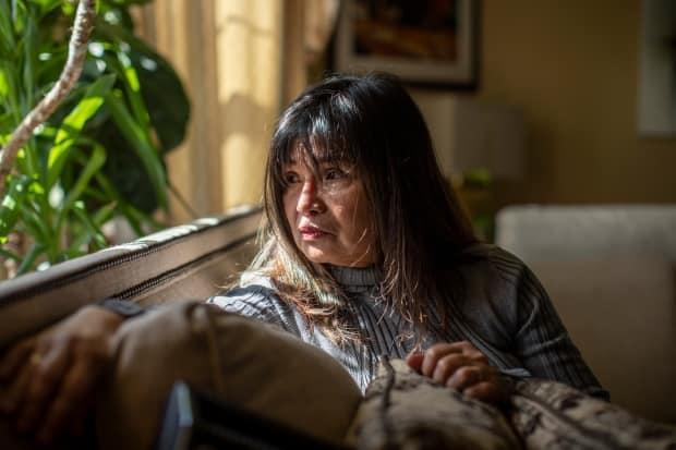 Salve Dayao is pictured in her home in New Westminster, British Columbia on Friday, March 26, 2021.
