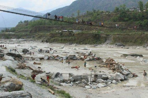 The Seti burst its banks near the city of Pokhara, a popular tourist hub, on Saturday, sweeping away an entire village