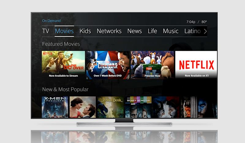 Netflix on Comcast's X-1 Platform.