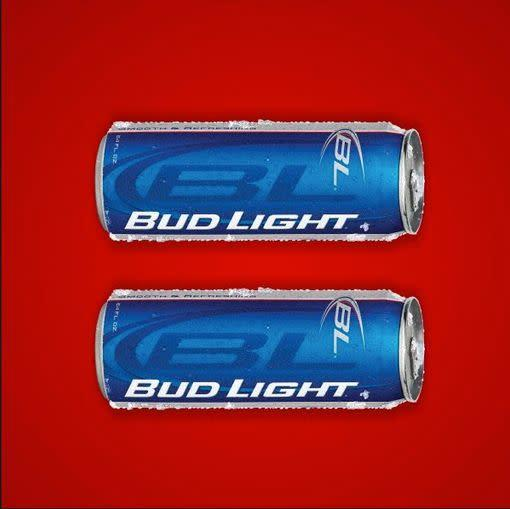 "Budweiser released this advertisement in <a href=""http://abcnews.go.com/Politics/corporations-paint-brands-red-lgbt-rights/story?id=18822775"" rel=""nofollow noopener"" target=""_blank"" data-ylk=""slk:March 2013"" class=""link rapid-noclick-resp"">March 2013</a>, echoing the Human Rights Campaign's <a href=""https://www.hrc.org/the-hrc-story/about-our-logo"" rel=""nofollow noopener"" target=""_blank"" data-ylk=""slk:viral equality logo"" class=""link rapid-noclick-resp"">viral equality logo</a>."