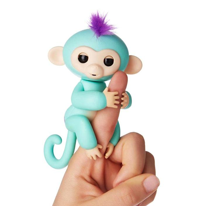 """<p><a class=""""link rapid-noclick-resp"""" href=""""https://www.amazon.com/Fingerlings-Interactive-Monkey-Turquoise-Purple/dp/B01NC0BI1Q?th=1&tag=syn-yahoo-20&ascsubtag=%5Bartid%7C10063.g.34738490%5Bsrc%7Cyahoo-us"""" rel=""""nofollow noopener"""" target=""""_blank"""" data-ylk=""""slk:BUY NOW"""">BUY NOW</a><br></p><p>These little electronic monkeys that wrap around your finger were the Furby-like obsession for 2017. The robotic pets will hang onto anything you wrap their arms around while they shake their head and make noises. You were lucky if you could get your hands on one. </p>"""