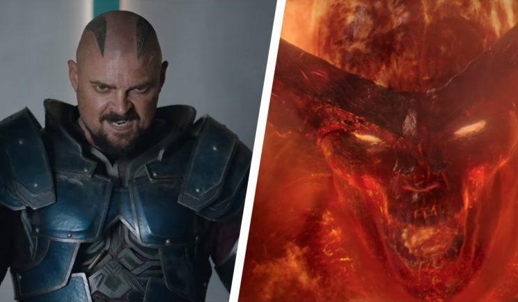 Thor villains, Skurge and the demonic Surtur - Credit: Marvel