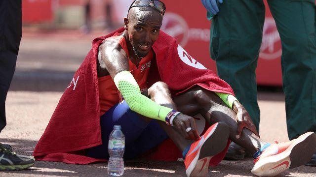 Farah was not happy. Image: Getty