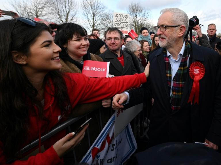 Corbyn is a veteran leftist campaigner who confounded pollsters by coming within a whisker of winning the last election in 2017 (AFP Photo/Oli SCARFF)
