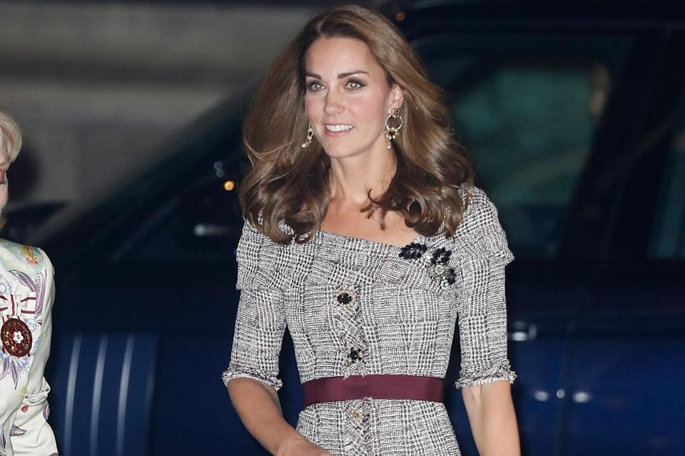 The Duchess of Cambridge arrives at the V&A (Getty)