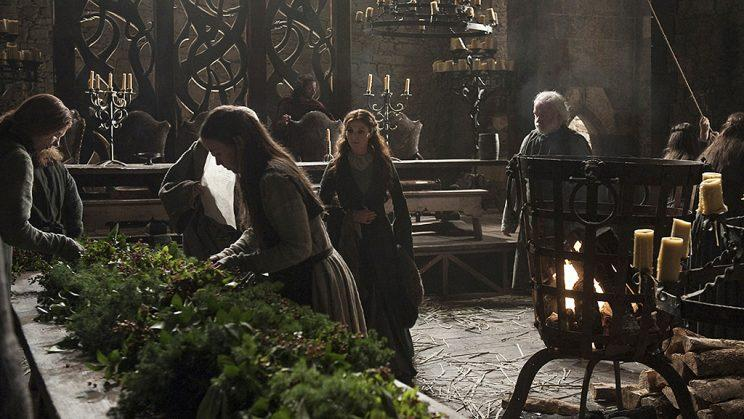 Michelle Fairley as Catelyn Stark in HBO's Game of Thrones . (Photo Credit: HBO)