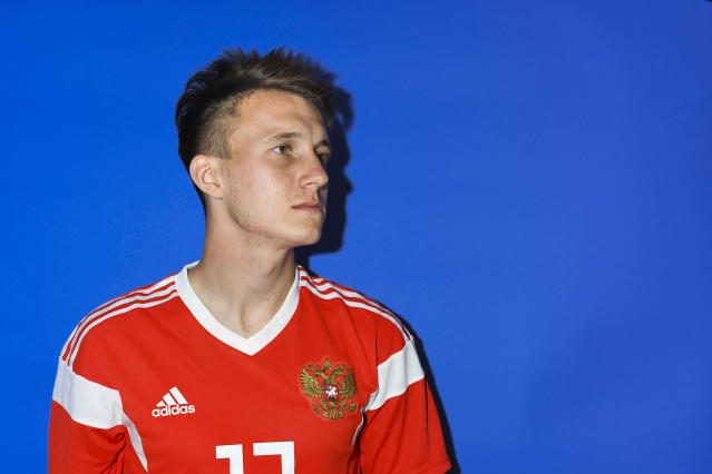 <p>Aleksandr Golovin is part of a Russia squad worth €132m. </p>