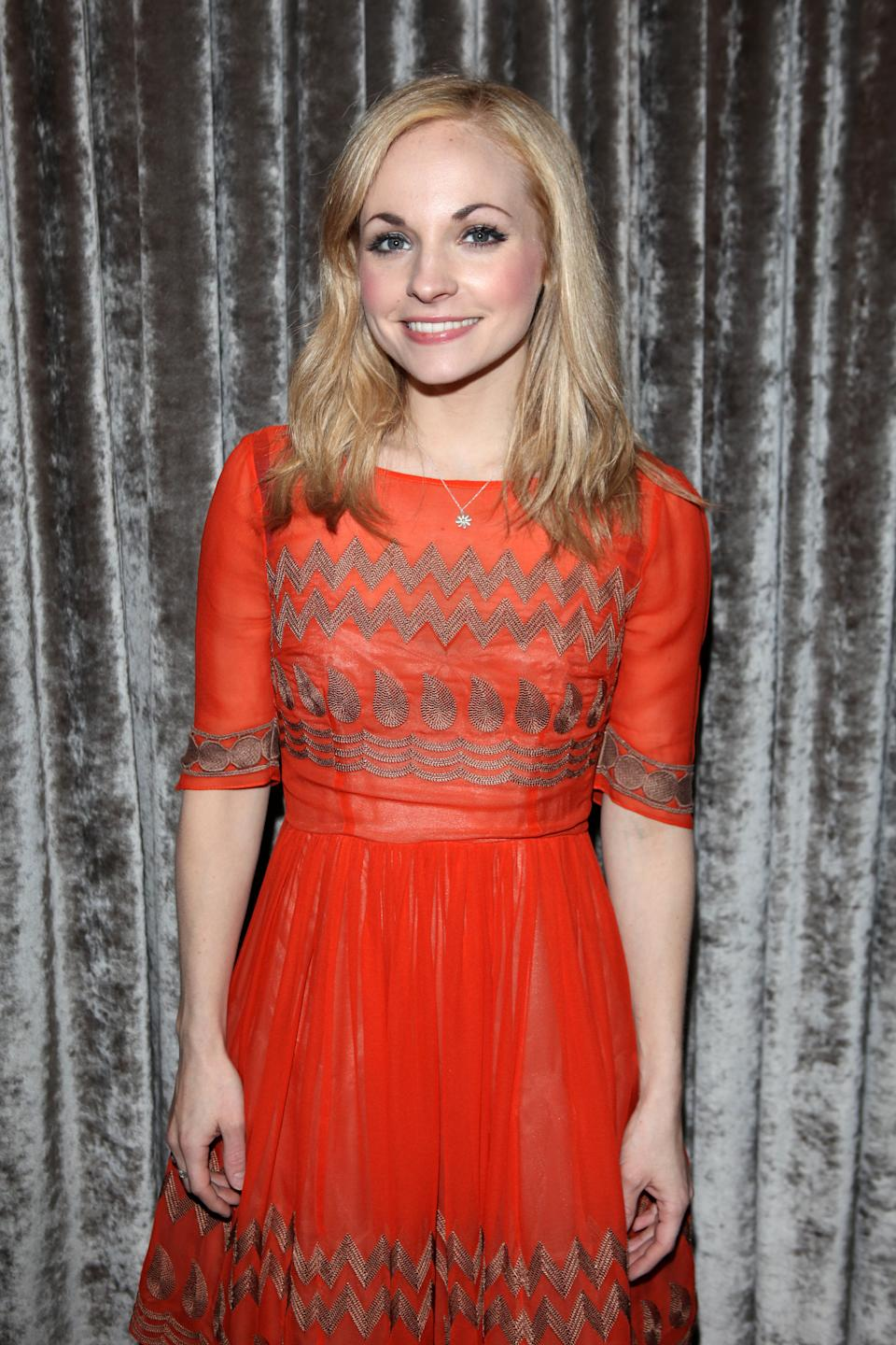 """Georgia Moffett attends the after party for """"What The Butler Saw"""" at the The Waldorf Hilton Hotel on May 16, 2012 in London, England. (Photo by Dave M. Benett/Getty Images)"""