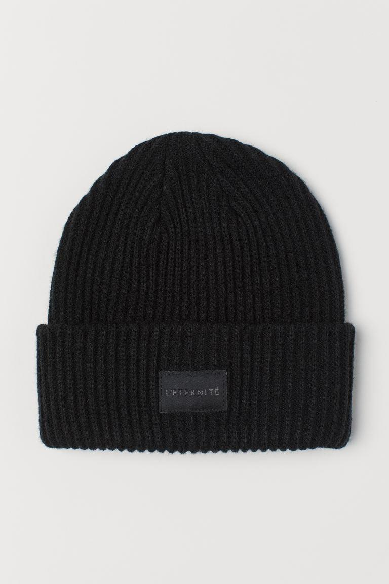 <p>I like the message on this <span>Rib-knit Hat</span> ($10).</p>