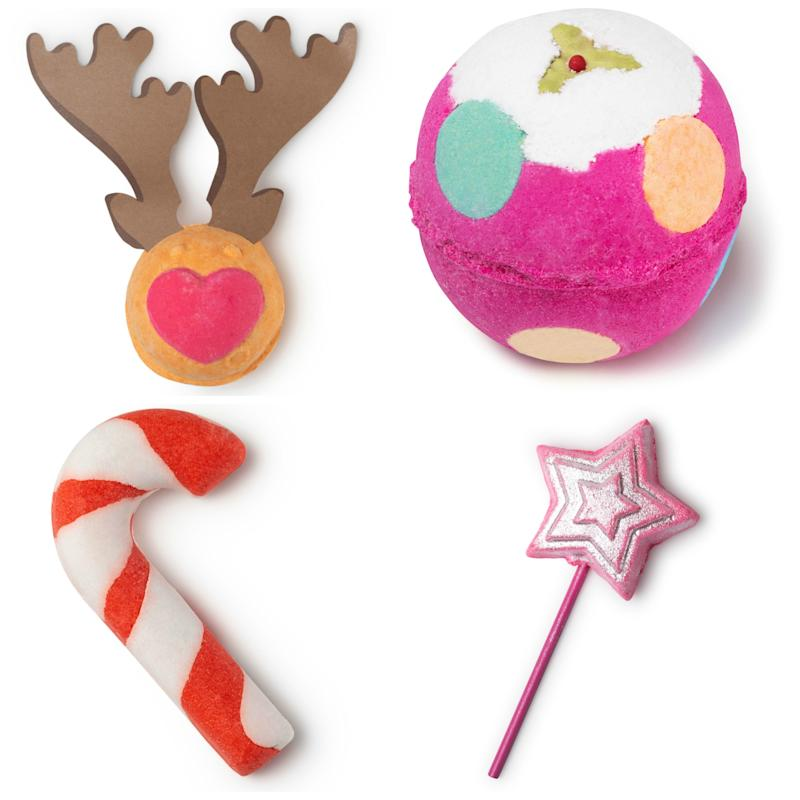 Lush Rudolph $7.95, Luxury Lush Pud $9.95, Candy Cane $7.95, Magic Wand $12.95