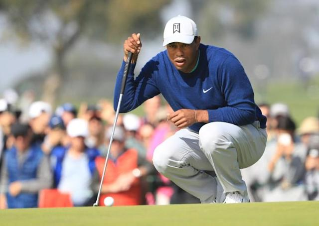 Tiger Woods chases a record 83rd career US PGA Tour title this weekend at the Farmers Insurance Open on a Torrey Pines layout where he has won eight prior events (AFP Photo/Sean M. Haffey)
