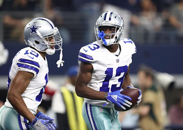 Cowboys receivers Amari Cooper (19) and Michael Gallup (13) are the top two receiving options in Dallas, but things are a lot more crowded coming of the NFL draft. (Mandatory Credit: Matthew Emmons-USA TODAY Sports)