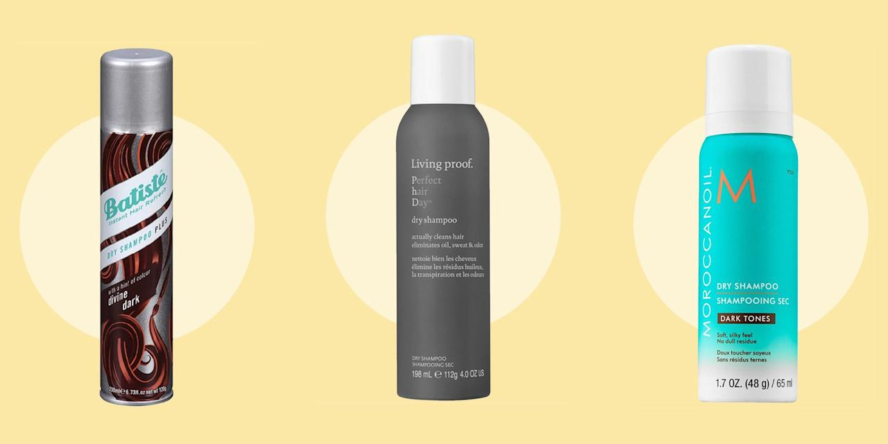 """<p>I can't tell you how many times I'll be on my way out the door, doing a quick mirror check, when I notice that my roots are speckled with a faint white chalkiness... remnants of <a href=""""https://www.seventeen.com/beauty/hair/advice/g874/best-dry-shampoo/"""" target=""""_blank"""">dry shampoo</a>. Ugh. Brunettes know the feeling — you have to brush your hair out over and over again, add a little more product, and then you end up with frizzy, limp hair. So you basically have to live with dull hair, or just accept that weird cast on your roots. </p><p>But after some research, I realized that those weren't my only options. Enter tinted and translucent dry shampoos that <em>actually </em>work. These formulas will keep your hair looking voluminous and fresh, without the powder residue. Here are the best dry shampoos that every brunette needs to try...</p>"""