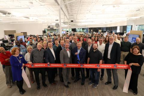 Glenn Williams, Primerica CEO, prepares to cut the ribbon at the opening of the Primerica Technology Innovation Center. (Photo: Business Wire)