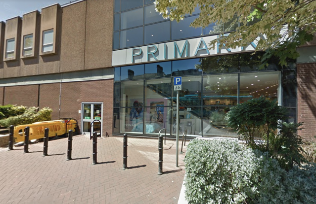 Caitlin was last seen outside the Burton branch of Primark (Google Street View)