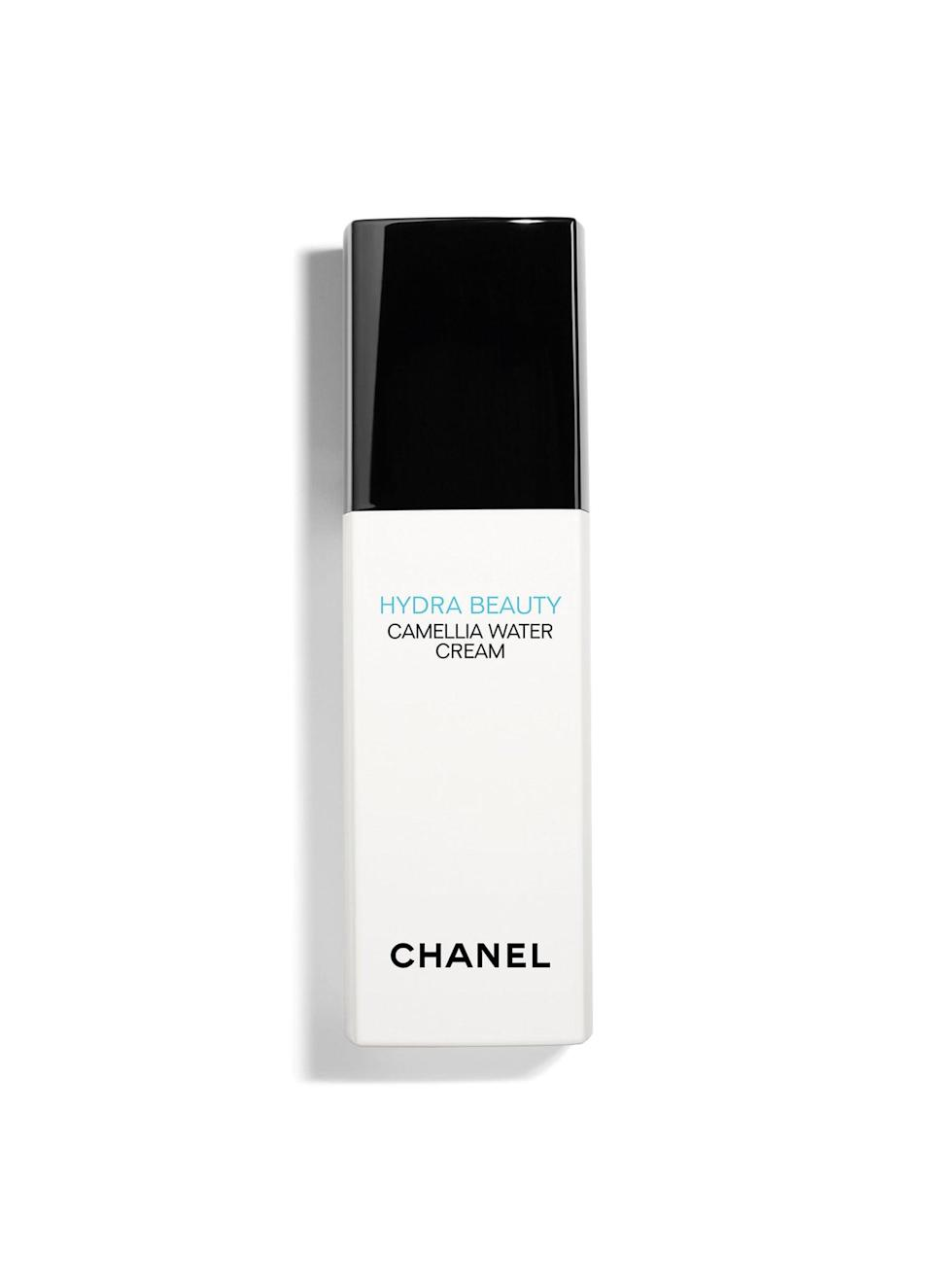 """<p>""""If your skin is normal/combination, I would use the <span>Chanel Hydra Beauty Camellia Water Cream</span> ($55),"""" said makeup artist Zoe Taylor (who is a spokesperson for the brand). """"It gives skin the most beautiful glow and is a great prep for skin under your base. Try applying concealer only where you need it and skip a full base to really show the true beauty of the skin.""""</p>"""