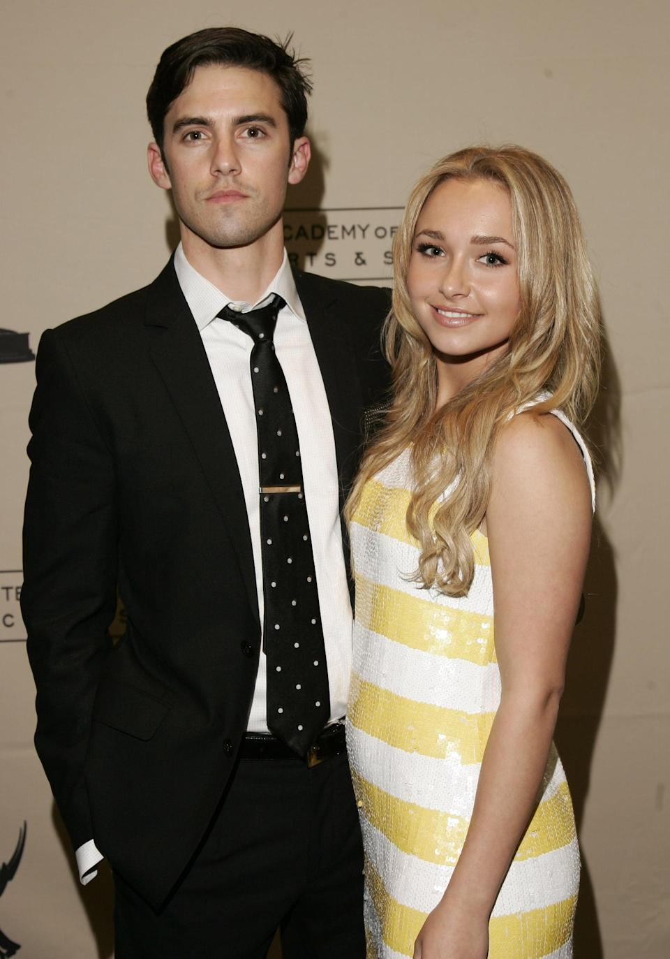 "<p>Hayden and Milo met on the set of <strong>Heroes </strong>in 2016, where they played niece and uncle - though that didn't deter some fans from shipping the pair. The two dated from 2007 to 2009, and they remained on the show until the end of the fourth and final season in 2010. </p> <p>Following the experience, Milo told <strong>Mr. Porter</strong> in September 2017 that <span>he would ""never again"" date a costar</span>. ""There are things that happen to you in your life that shape who you are,"" he added. ""Everything I've been through from jobs to friendships to partnerships - everything has built me to who I am. You learn from it. You learn a better way of doing things. It wasn't until my mid to late twenties that the job wears on you, relationships wear on you. But I wouldn't change a thing. When you get knocked over the head in life, it builds your perspective.""</p>"