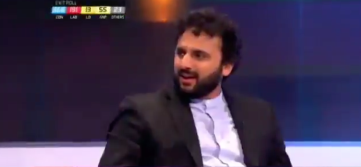 Comedian Nish Kumar was not impressed with what Mr Johnson had to say(Picture: Channel 4)