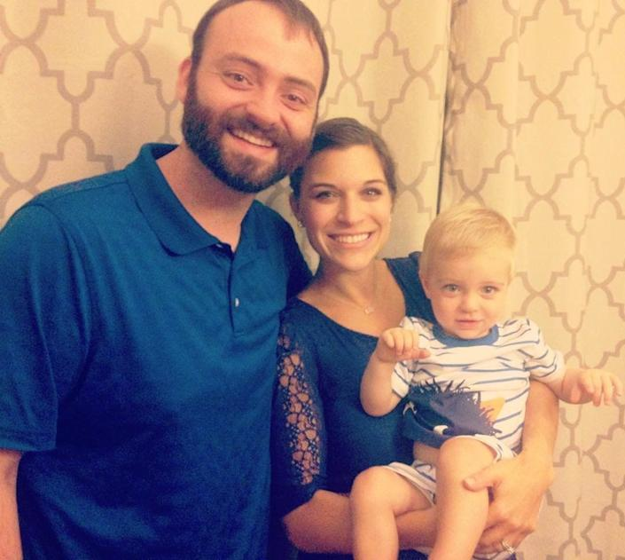 Kelsie, her husband Aaron and their 20-month old son, Eli. (Photo: Currently Kelsie)