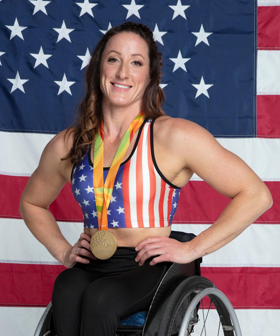 """<strong><h2>Tatyana McFadden </h2>Sport: Track & Field </strong><br><strong>Instagram:</strong> <a href=""""https://www.instagram.com/tatyanamcfaddenusa/"""" rel=""""nofollow noopener"""" target=""""_blank"""" data-ylk=""""slk:@tatyanamcfaddenusa"""" class=""""link rapid-noclick-resp"""">@tatyanamcfaddenusa</a> <br><br>McFadden was born with spina bifida (a congenital disorder which impacts the spinal cord's development) in Russia, and learned to walk on her hands to keep up with the other kids. She began enrolling in different sports after being adopted and moving to the U.S. in 1993. She found her place in wheelchair racing, where her arm strength helped her excel, <a href=""""https://www.tatyanamcfadden.com/about-tatyana"""" rel=""""nofollow noopener"""" target=""""_blank"""" data-ylk=""""slk:according to her website"""" class=""""link rapid-noclick-resp"""">according to her website</a>. She competed in her first Paralympic games in Athens in 2004, and currently holds 17 Paralympic medals. <br> <br><strong>What's your favorite workout?</strong> <br>""""Hill workouts and sprinting workouts,"""" McFadden says.  <br> <br><strong>What would you be doing if you were not an athlete</strong>? <br>""""Being an advocate for people with disabilities for full inclusion and for youth to be involved in sports,"""" she says. <br><br><strong>How do you feel to be finally competing after the past year?</strong> <br>""""I am thrilled to be competing again,"""" McFadden says. """"I've missed the adrenaline rush of racing and camaraderie of being with teammates and competitors."""" <span class=""""copyright"""">Photo: Courtesy of NBC Olympics</span>"""